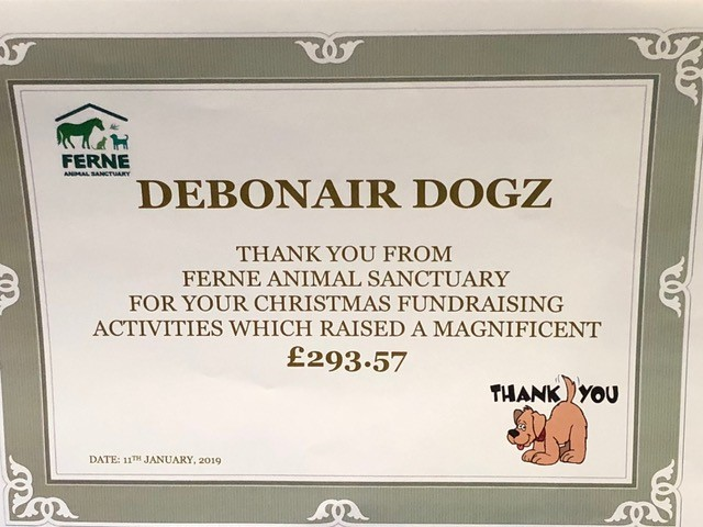 2018 Fern Animal Sanctuary Fundraising Certificate